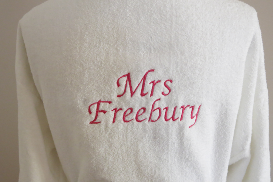 Embroidered wedding robes kent (2 of 11)
