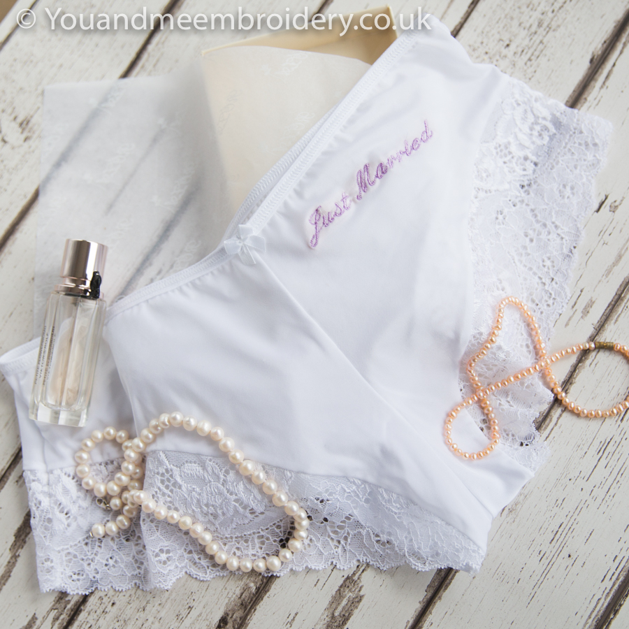 personalised wedding knickers