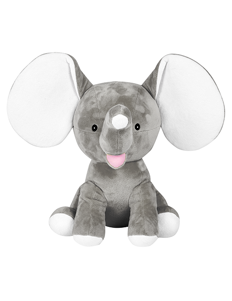 personalised soft tyous in kent, gry elephant dumble cubbie