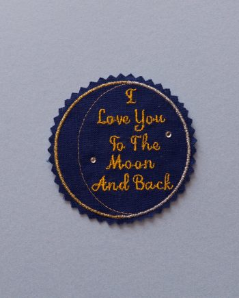 tie patch for the groom or loved ones. Embroidery and crystal details